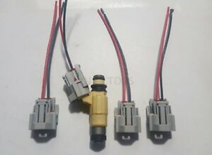Set of 4 Yamaha Fuel Injector Connectors W Pigtails CDH275 CDH210 F115 F150