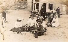 Beach Scene Social History RP old pc used  M & S Cliftonville Margate