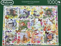 Falcon 1000 Piece Jigsaw Puzzle Anne Searle Country Calendar 1 Piece Missing