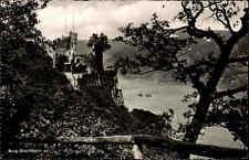 Burg Rheinstein bei Trechtingshausen s/w Postkarte ~1960 gelaufen Panorama