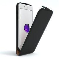 Tasche für Apple iPhone 7 Flip Case Handy Schutz Hülle Cover Schwarz