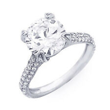 5.21 Ct. Round Cut Micro Pave New Diamond Engagement Ring G, SI2 (EGL USA)