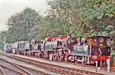 PHOTO  BLUEBELL RAILWAY: LINE-UP OF LOCOMOTIVES AT SHEFFIELD PARK 1997 BESIDE TH