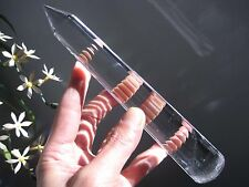 "A*7.85"" Natural Vogel Style Clear Quartz Crystal 18 sided Wand Superb 111703"