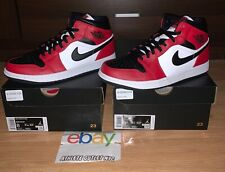 New Nike Air Jordan Retro 1 Mid Chicago Men's 8-8.5 Basketball Shoes 554724-069