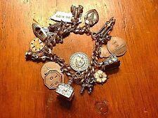 Gorgeous Vintage Sterling .925 18 Charm Braclet Boat House Lobster Etc