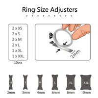 10PCS Invisible Multi-Size Ring Clip Guard Adjuster Economical Practical Tool