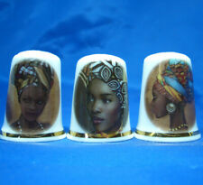 Birchcroft Thimbles -- Set of Three -- African Art