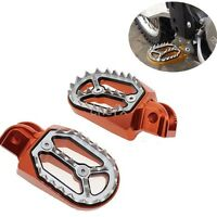 CNC Aluminum Pivoting Footpegs Fit KTM 540 SXC 620/625/640/660 LC4 660 SMS/Rally