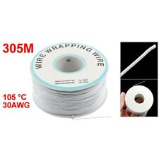 305M White PVC Coated TIn Plated CopPer Wire- 30AWG Cable Roll L3B5