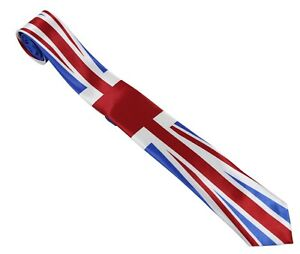 Mens Great Britain Tie Necktie Neck GB UK Union Jack British Flag