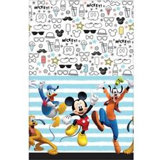 MICKEY MOUSE On the Go PLASTIC TABLE COVER ~ Birthday Party Supplies Cloth Decor
