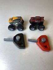 (2) Mini Hotwheels Monster Jam Monster Trucks With Key Launchers