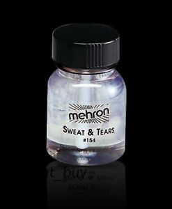 MEHRON  SWEAT & TEARS_LIQUID CLEAR _TV MOVIE SPECIAL EFFECT STAGE MAKEUP - 1OZ