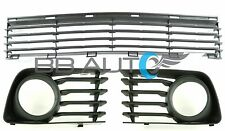 NEW 3pc LOWER FRONT BUMPER GRILLE SET FOG LIGHT BEZELS FOR 04-09 TOYOTA PRIUS