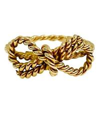 Tiffany & Co - 18k Gold Rope Twist Bow Ring