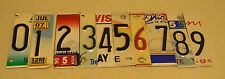 Lot of 10 license plate cut up numbers 0-9 for art and craft projects