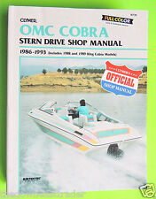 Clymer OMC Cobra Stern Drive Official Shop Manual 1986-1993 Repair Intertec VG++