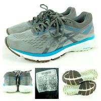 ASICS Women's GT-1000 7 Training Running Shoes Gray/Teal 1012A029 Size 7 Wide