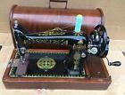 1919 Antique Singer 66  66K Lotus Decals Hand crank Sewing Machine