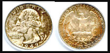 1949-D 25C MS66 PCGS-102 IN HIGHER GRADE-MINT SET TONING- WASHINGTON DESIGN////
