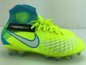 Nike Magista Obra II FG ACC Volt Soccer Cleats Womens 844205-717 Size 5.5