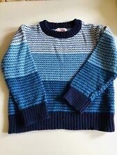 Cat & Jack 3T Cotton Sweater Blue White Ocean Striped