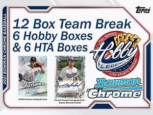 PHILADELPHIA PHILLIES 2021 Bowman Chrome 12 Box (6Hobby+6HTA) Team Break #4
