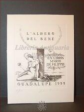 EROTICA - Ex-Libris Bulino Originale Firmato FABRIZIO BOMBINO, GUADALUPE 1999