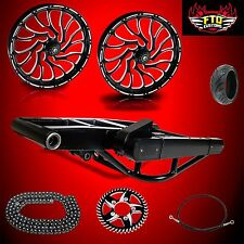 Hayabusa Nightmare 300 Fat Tire Kit  Complete 300mm Wide Tire Kit