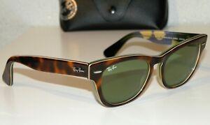 Ray Ban RB4169 LARAMIE SPECIAL SERIES TORTOISE GREEN LENSES Sunglasses! ITALY