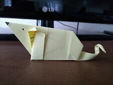 One Paper Making Origami Zodiac No.1 Rat (The Year of 2020) by Yellow Paper