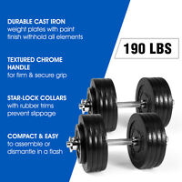 Yes4All 190lbs Adjustable Dumbbell Set with Dumbbell Connector