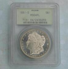 San Francisco Proof-Like PCGS Grade MS 64 US Dollar Coins