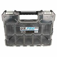 Heavy Duty Storage Case With 12 Removable Compartments Holder Metal Clips