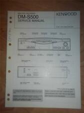 Kenwood Service Manual~DM-S500 Minidisc Recorder/Player~Original