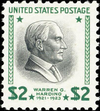 1938 $2 Warren G. Harding, 29th President Scott 833 Mint F/VF NH