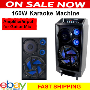 Portable Karaoke Machine Wireless Microphone Home Audio Bluetooth Speaker System