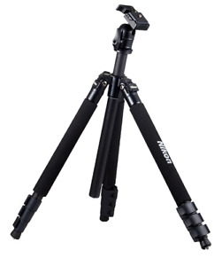 "Genuine Nikon D-SLR RF Mirrorless Camera Tripod 63"" w/Ball Hea+Case + etc AA-738"
