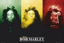 BOB MARLEY POSTER PRINT RASTA SMOKING GANJA MARIJUANA SMOKING WEED WALL ART