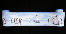 6205-14-11) hochwertige  Kinderzimmer Vinyl Tapeten Bordüre Borte Pinguine