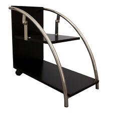 Nachttisch Nachtkonsole Holzdekor schwarz mit Chrom-Details Designer-Stück
