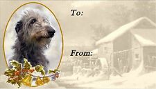 Deerhound Christmas Labels by Starprint - No 1