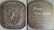 Medaille en ARGENT massif  citta TORINO Turin Italie 1979 silver medal  49 gr  0