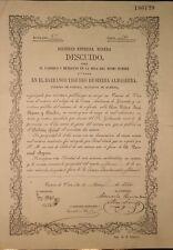 Sociedad Especial Minera Descuido, Namens-Aktie 1880, sehr selten
