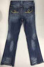 Seven7 Boot Cut Jeans Mid Rise Dark Wash Stretch Women's Size 8 30x32