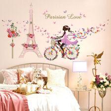 1pc Vinyl Butterfly Fairy Dance Girl Home Decorating Wall Art Wall Sticker
