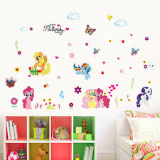My little Pony Pinky Pie Rainbow Dash Heart Wall sticker Decals Girl Decor Mural