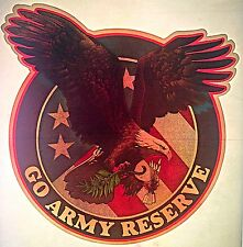 Vintage 70s Go Army Reserve Iron-On USA Flag Bald Eagle Super RARE!