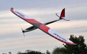 Max Thrust Aggressor THERMIC Glider PNP Inc Brushless Motor, Speedcontrol,Servos
